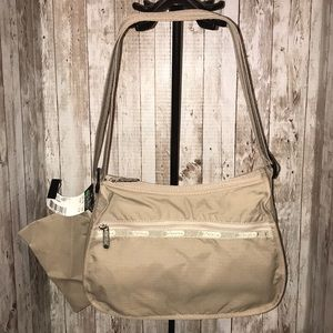 LeSportsac Crossbody with make up case Tan New